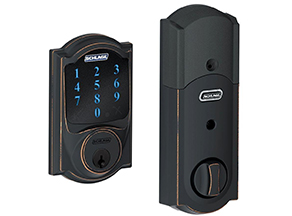 Schlage touchscreen deadbolt door lock