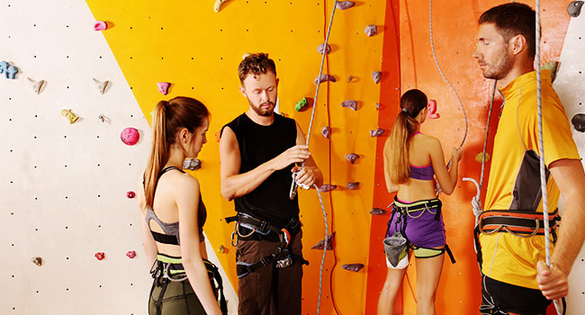 rock climbing indoor: Basic Instruction for Indoor Rock Climbing