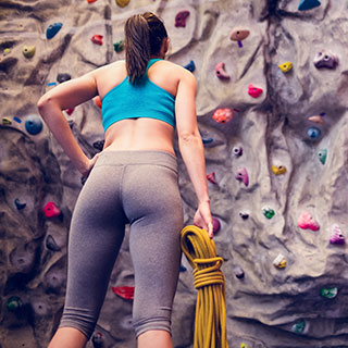 rock climbing indoor: