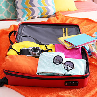 useful travel accessories: Rolling suitcase