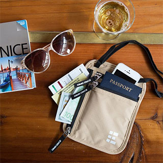 useful travel accessories: Passport and ticket holder