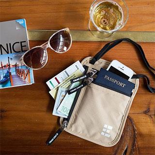 useful travel accessories: Passport and ticket holder