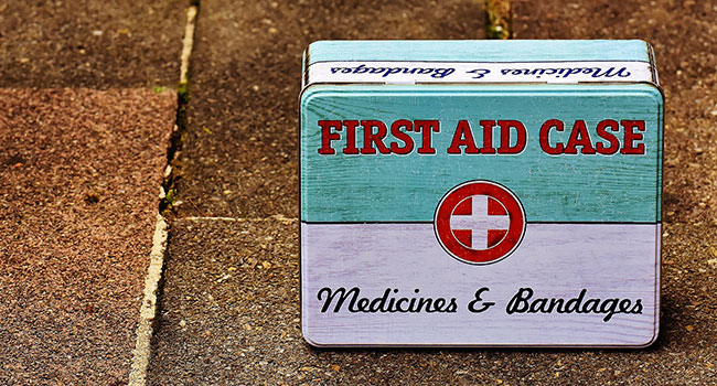 toiletries for travel: First Aid & Medication