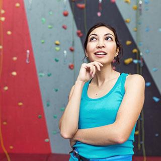 rock climbing indoor: