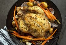 dutch oven potatoes: Lemon-Roasted Dutch Oven Chicken and Potato Recipe
