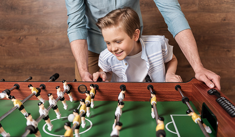 How to play foosball: Catching