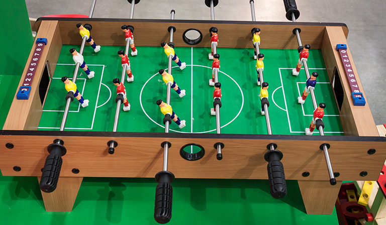 The Foosball table