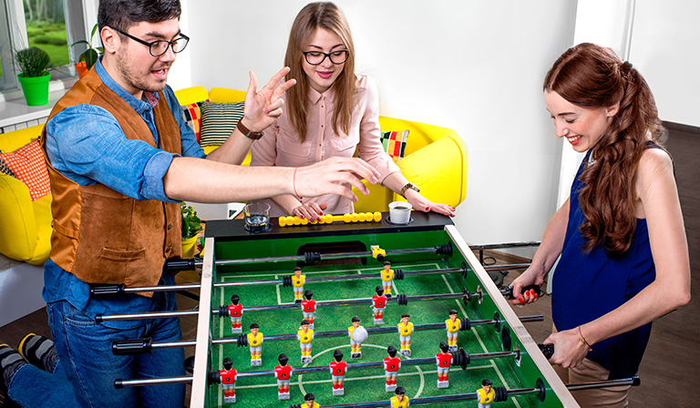 Play foosball at home