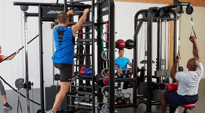 compact home gym: Workout On A Light Compact Home Gym