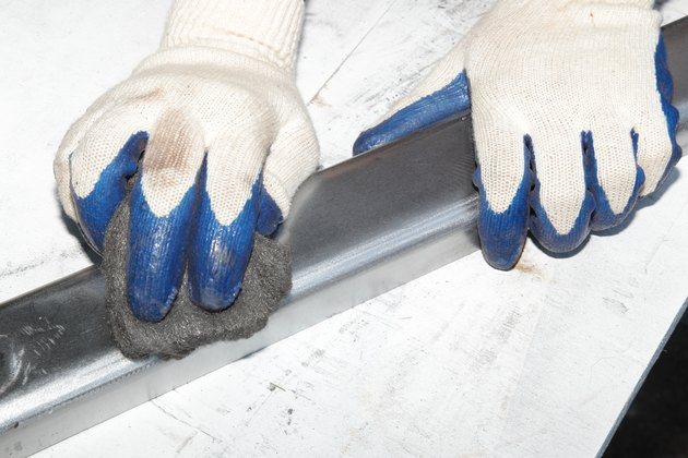 how to sand metal: Use hand sandpaper as supplementary