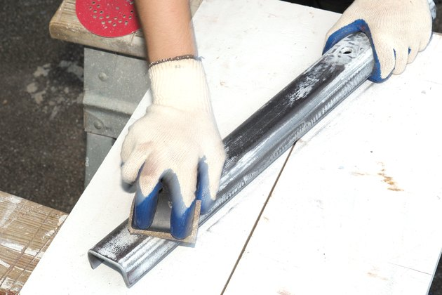 how to sand metal: Using a Sand Block