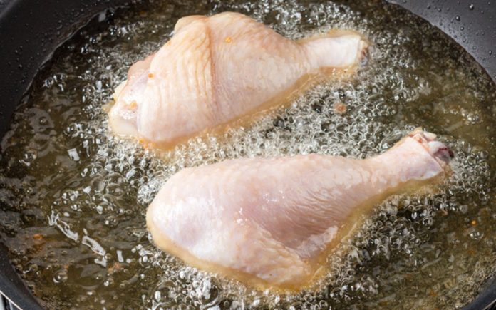 how long to deep fry chicken legs: