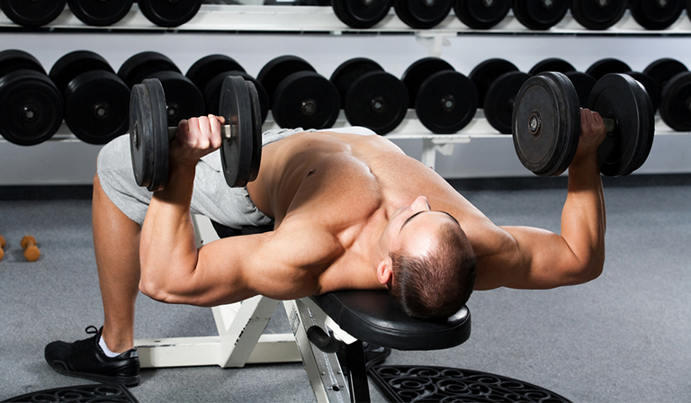 dumbbell bench press form: