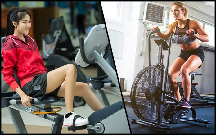 recumbent vs upright bike: