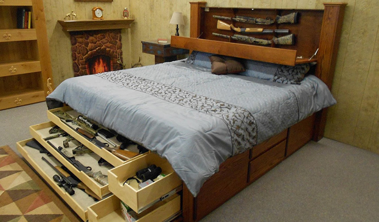 hidden gun safe ideas: gun safe room ideas