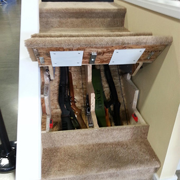 gun safe interior ideas: Hidden gun safe ideas