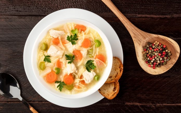 low carb chicken soup: