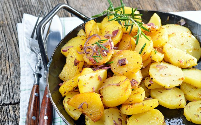 Deep fried breakfast potatoes: