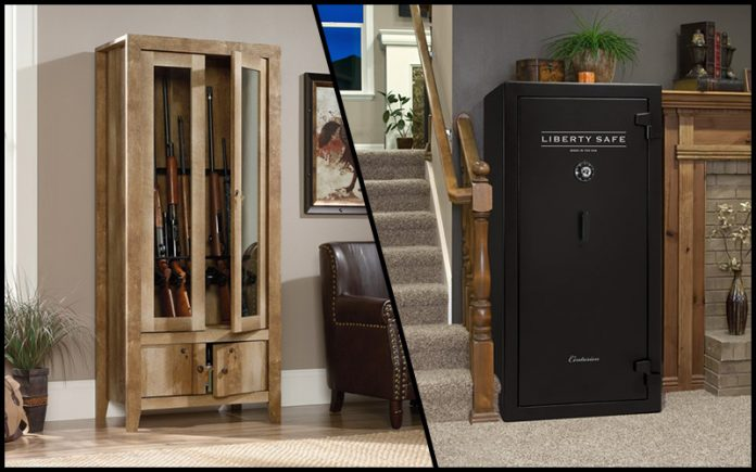 gun cabinet vs gun safe: Which is the best?